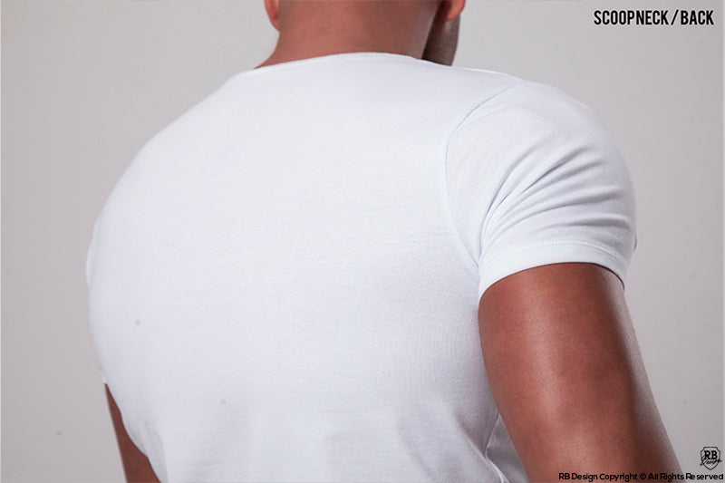 mens white t-shirt back look