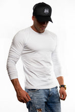 Plain White Crew Neck Long Sleeve T-shirt