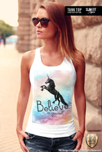 printed cool unicorn womens tank top