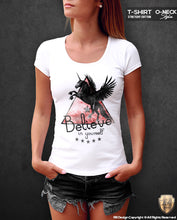 Black Unicorn Women's T-shirt Believe in yourself Cool Slogan Tank Top WD01UR
