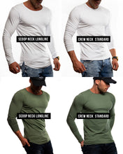 "Mens Long Sleeve T-shirt ""ARMY"" MD1000"