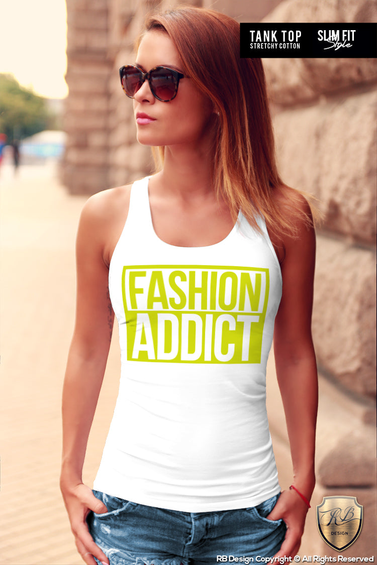 fashion addict ladies tank top