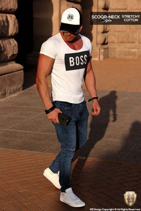 mens fashion outfit boss tee