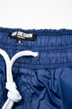 Bundle Dark Blue Mens Swimming Shorts + Blue/White Hat BW01DBB