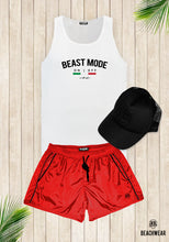 Bundle 3 - Red Beach Shorts + Black Hat + Tank Top MD930