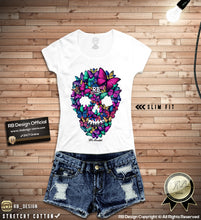rb design butterflies skull t shirts