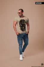 Men's Designer Skull T-shirt Vintage Skeleton Graphic Top MD050