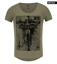 skeleton khaki tee army green muscle top
