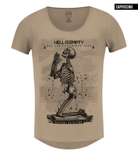 Hell Is Empty Praying Skeleton T-shirt /color option/ MD060