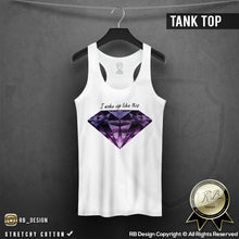 luxury purple diamond graphic tank top