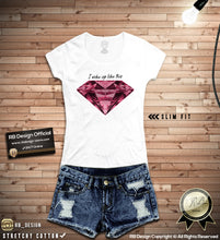 colorful printed diamond tees for girls