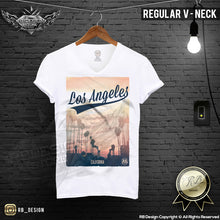 los angeles v neck t-shirt