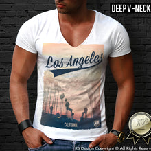 los angeles deep v neck t-shirt