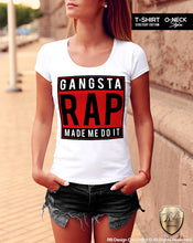 Gangsta Rap Made Me Do It Women's T-shirt Ladies Tank Top WD078 C