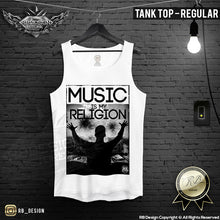 mens graphic rave tank top