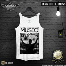 mens fitness music tank top