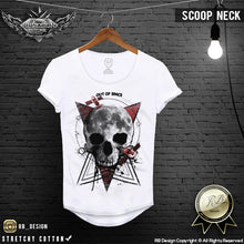 scoop neck mens fashion skull shirts