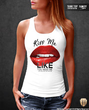 womens printed lips vest
