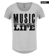 gray scoop neck fashion t-shirt