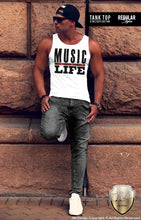 Music Is Life Men's Fashion T-shirt Dj Party Festival Tank Top MD109