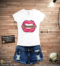 rb design lips graphic tee