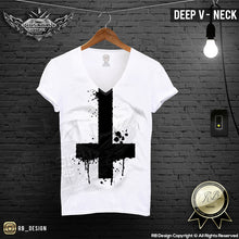 deep v neck cool mens t-shirt
