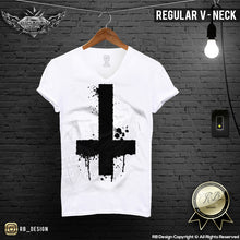 inverted cross mens t shirt