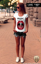Red Lips Women's T-shirt Music Is My Medicine Ladies Festival Tank Top WD169