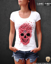 Designer Skull T-shirt Unique RB Design Flowers Tank Top WD204