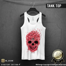 womens rb design skull tank top