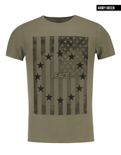 men's fashion khaki t-shirt
