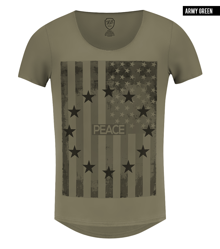 army green US flag t-shirt