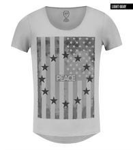 gray us flag fashion tee shirts