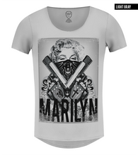 gray graphic tee monroe guns