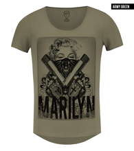 khaki mens fashion tee monroe guns