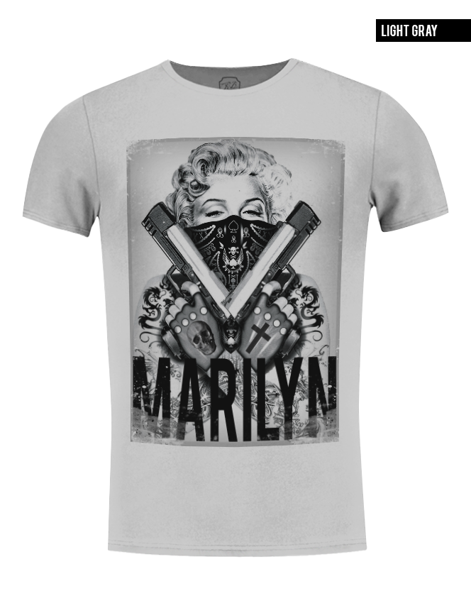marilyn monroe gangster t-shirt