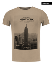 fifth avenue manhattan beige t-shirt