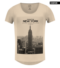 beige mens new york t-shirt