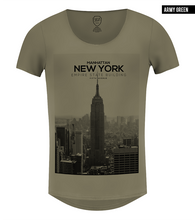 men's khaki new york scoop neck t-shirt