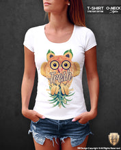 Women's Cute Owl T-shirt Unique Fresh RB Design Fruits Tank Top WD262