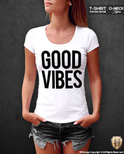 good vibes printed womens t-shirts