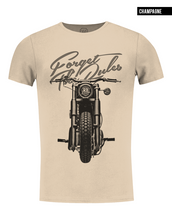 beige mens fashion bike t-shirt