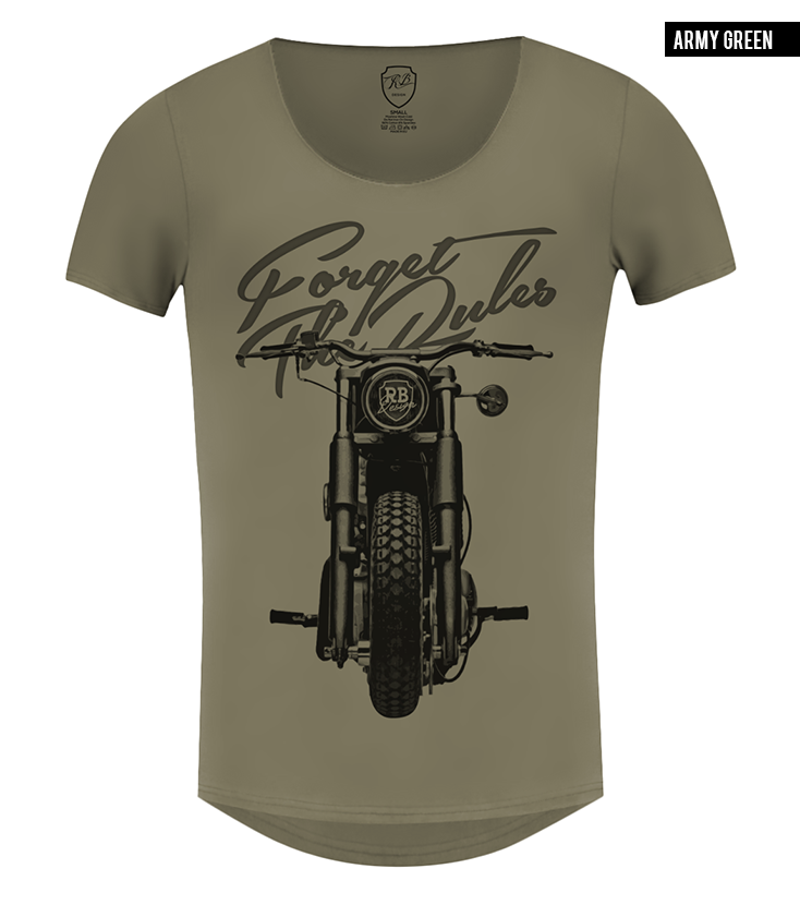 khaki mens bike t-shirt