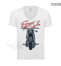deep v neck white motorcycle t shirts