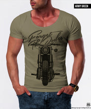 Men's Motorcycle T-shirt Forget the Rules Graphic Top / color option / MD273
