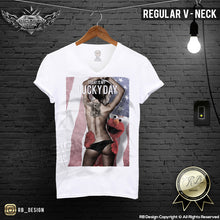 rb design tattooed sexy girl mens regular tee