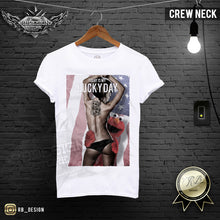 mens tattooed girls crew nesk t-shirt