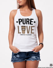 Pure Love Coffee Lover Women's graphic T-shirt WD316