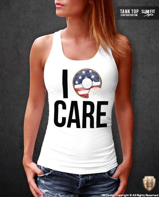 i donut care ladies tank top