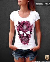 New York Manhattan Skull T-shirt Unique Ladies Graphic Tank Top WD346